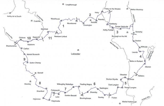 Leicestershire Round Map