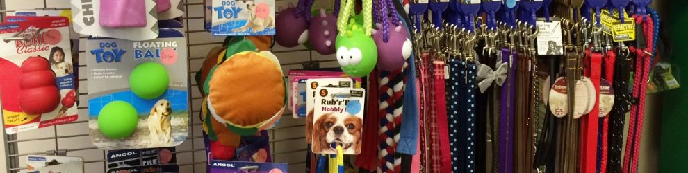 dog toys and collars